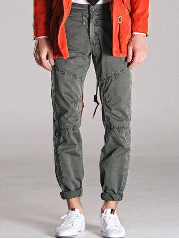 Cheap Loose Fitting Mid-Rise Zipper Fly Stitching Cargo Pants