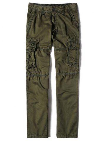 Shops Zipper Fly Straight Leg Multi-Pocket Cargo Pants