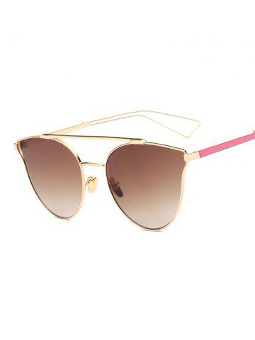 Cool Hollow Out Leg Crossbar Butterfly Sunglasses - Tea-colored