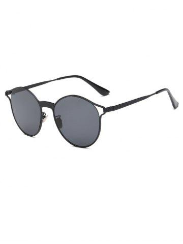 Discount Cool Hollow Out Frame Oval Sunglasses