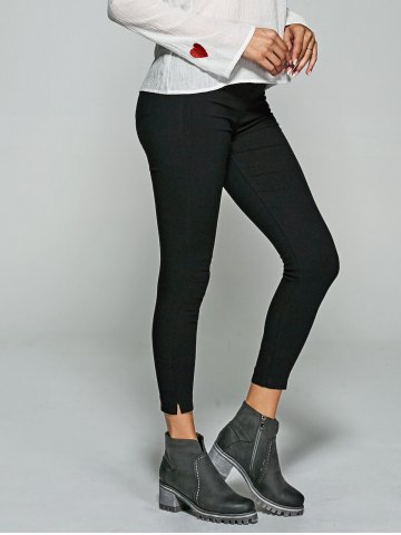 New Slit Skinny Leggings With Back Pockets