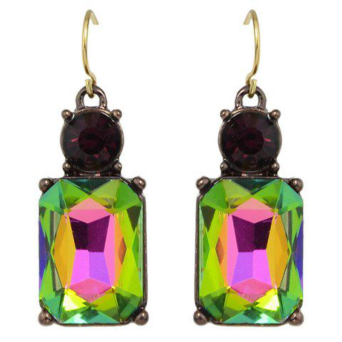 Discount Rhinestone Charming Perfume Bottle Earrings - CELADON  Mobile