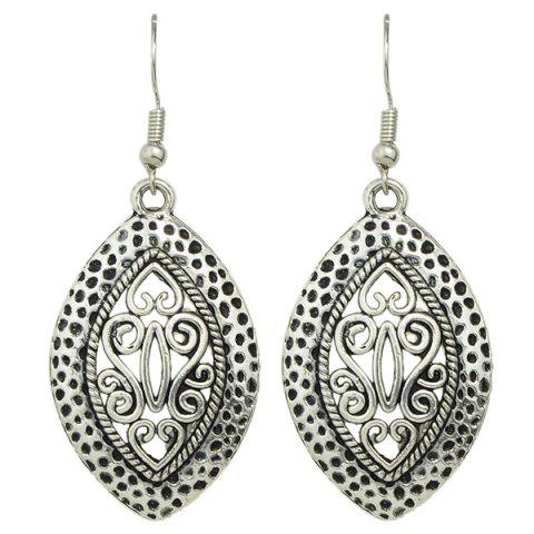 Outfit Hollow Burnished Filigree Earrings