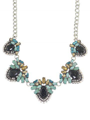 Affordable Rhinestone Fruit Necklace SILVER