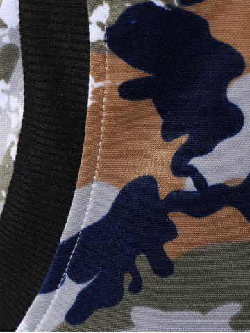 Fashion Camo Zip Up Hoodie with Running Jogger Pants - L JUNGLE CAMOUFLAGE Mobile