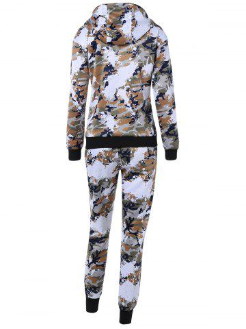 Shop Camo Zip Up Hoodie with Running Jogger Pants - L JUNGLE CAMOUFLAGE Mobile