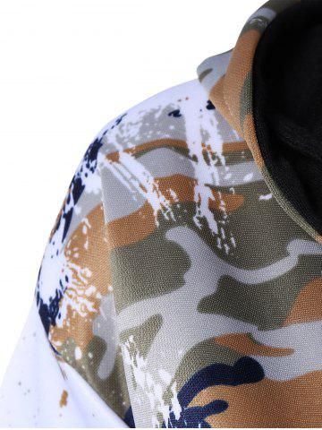 Unique Camo Zip Up Hoodie with Running Jogger Pants - L JUNGLE CAMOUFLAGE Mobile