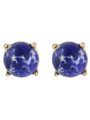 Store Pair of Faux Stone Stud Earrings