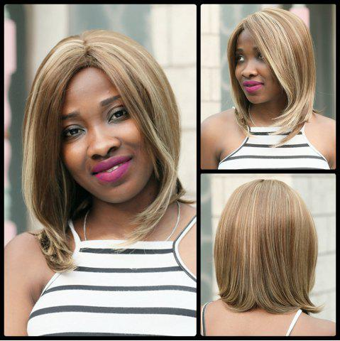 Latest Medium Centre Parting Tail Adduction Mixcolor Synthetic Wig