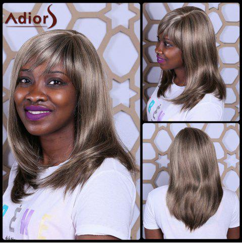 Chic Adiors Long Side Bang Straight Mixcolor Synthetic Wig
