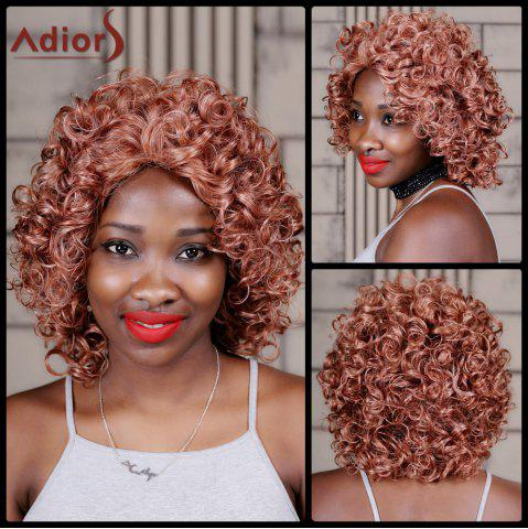 Trendy Adiors Medium Curly Colormix Inclined Bang Synthetic Wig