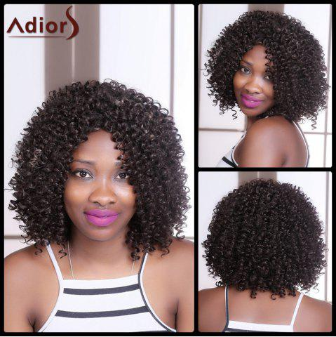 Fancy Adiors Medium Curly Colormix Side Parting Synthetic Wig COLORMIX