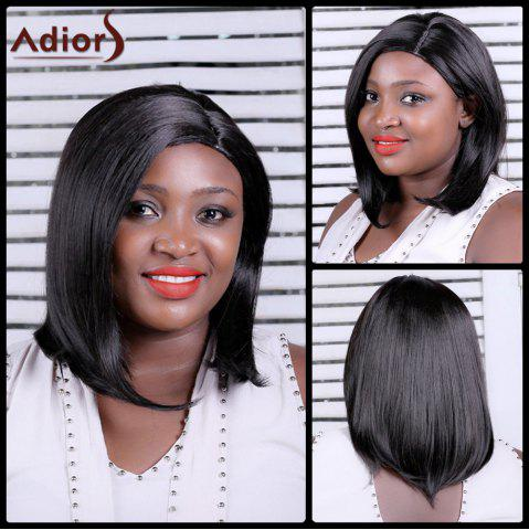 Cheap Adiors Long Straight Side Parting Synthetic Wig BLACK BROWN