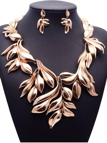 Fancy Vintage Tree Leaf Necklace and Earrings