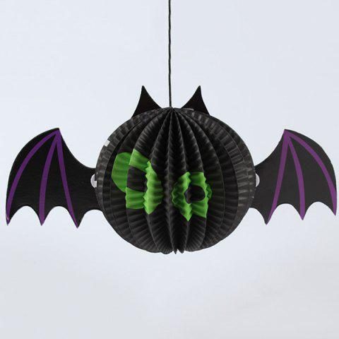 Halloween Supply Party Cartoon Bat Paper Lantern Decoration - Black - S