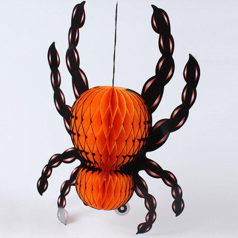 Shop Halloween Party Supply Insect Shape Paper Lantern Hanging Decration ORANGE
