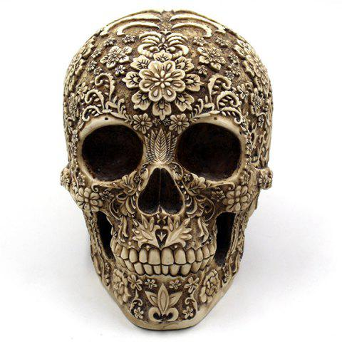 Buy Retro Halloween Party Floral Skull Prop Decoration