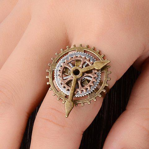 Chic Layered Circle Gear Pointer Ring