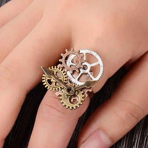 Outfits Circle Gear Layered Pointer Ring - ONE-SIZE BRONZE-COLORED Mobile