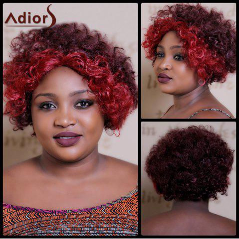 Online Adiors Short Highlight Curly Middle Parting Synthetic Wig
