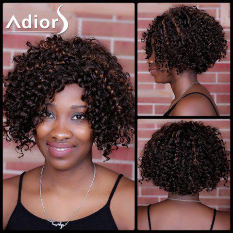 Discount Adiors Short Highlight Curly Side Parting Synthetic Wig COLORMIX
