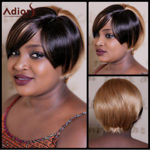 Chic Adiors Short Straight Double Color Bob Synthetic Wig COLORMIX