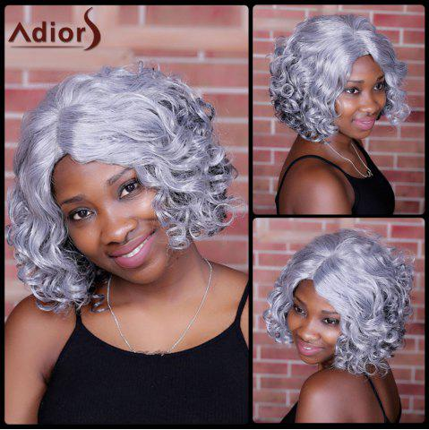 Sale Adiors Medium Side Parting Curly Colormix Synthetic Wig COLORMIX