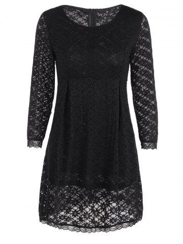 Chic Long Sleeve  Slimming Lace Dress