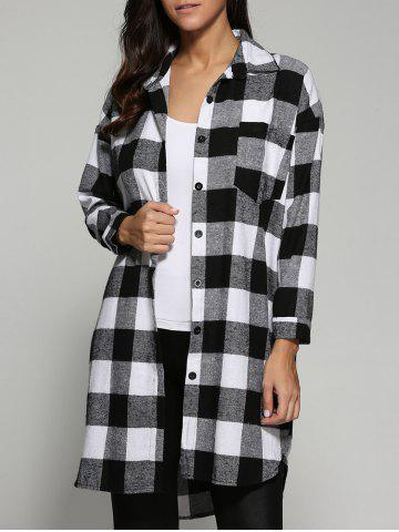 Shop Tartan Pattern Long Shirt