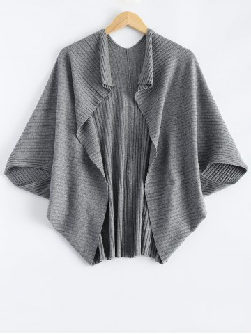 Affordable Batwing Ribbed Cape Cardigan