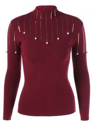 Chic Beaded Sequin Embellished Knitwear