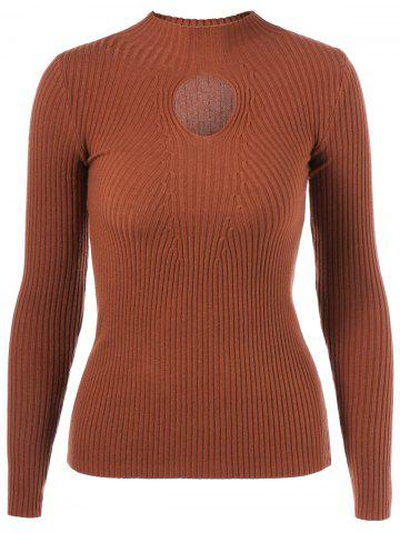 Trendy Keyhole Ribbed Slimming Knitwear