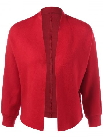 Outfits Open-Front Ribbed Cardigan