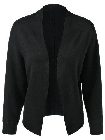 Fancy Open-Front Ribbed Cardigan