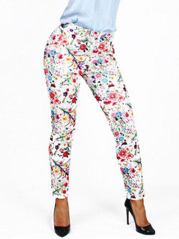 Online Tiny Floral Printed Pencil Pants