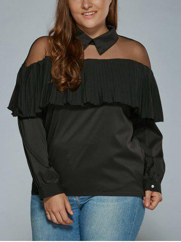 Outfits Overlay See Through Blouse BLACK 3XL