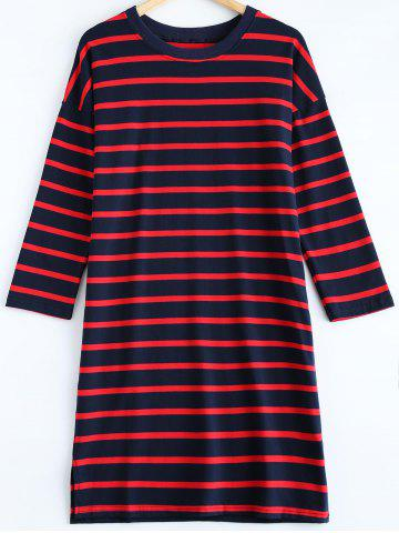 Shop Striped Pullover T-Shirt Dress