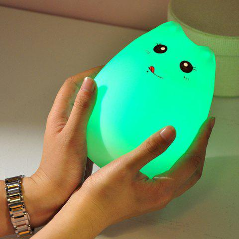 Buy Cat Cartoon LED Touching Colorful Ombre Night Light - WHITE  Mobile