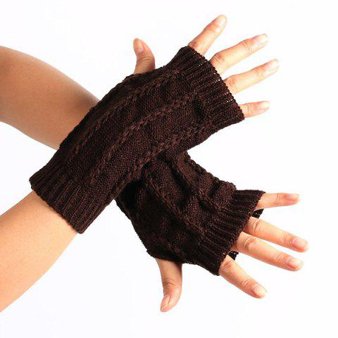 New Pair of Stripy Crochet Fingerless Gloves