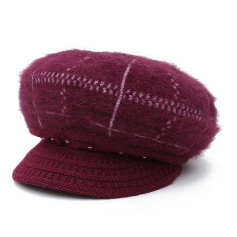 Fashion Winter Faux Pearl Knitted Newsboy Hat