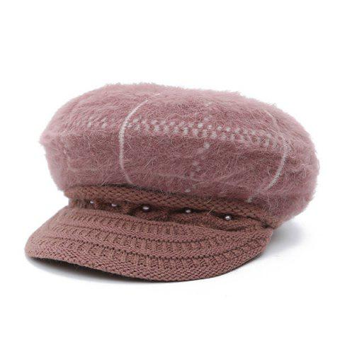 Online Winter Faux Pearl Knitted Newsboy Hat