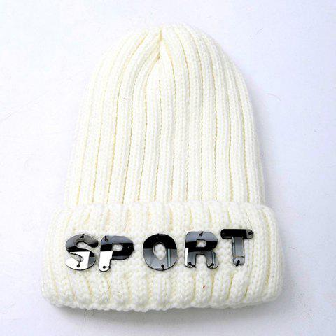 Best Winter Letter Flanging Knitted Hat