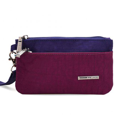 Best Metal Color Spliced Zippers Clutch Bag