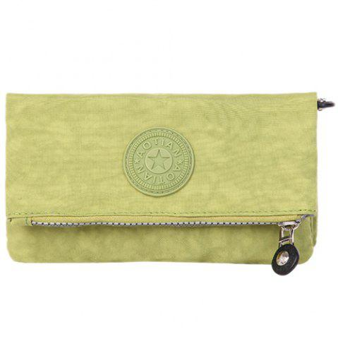 Chic Zip Metal Stitching Clutch Bag