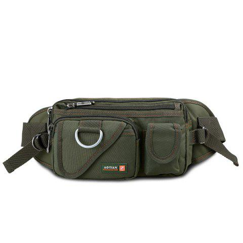 Buy Metal Pockets Dark Color Waist Bag - Army Green