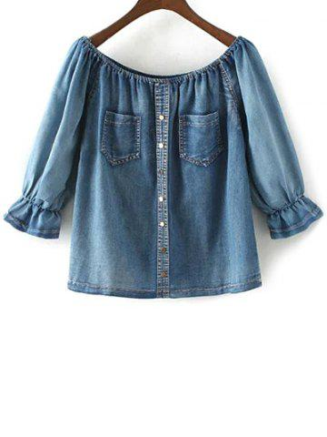 Hot Off The Shoulder Denim Top