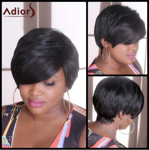 Buy Adiors Short Straight Fluffy Synthetic Wig - Black