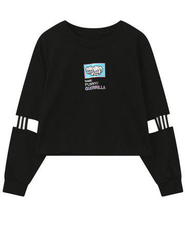 Outfit Crew Neck Print Patched Graphic Sweatshirt