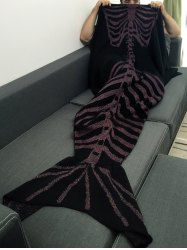 Good Quality Fish Skeleton Wrap Men Halloween Mermaid Blanket