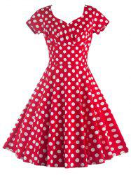 Short Sleeves Polka Dot Dress -